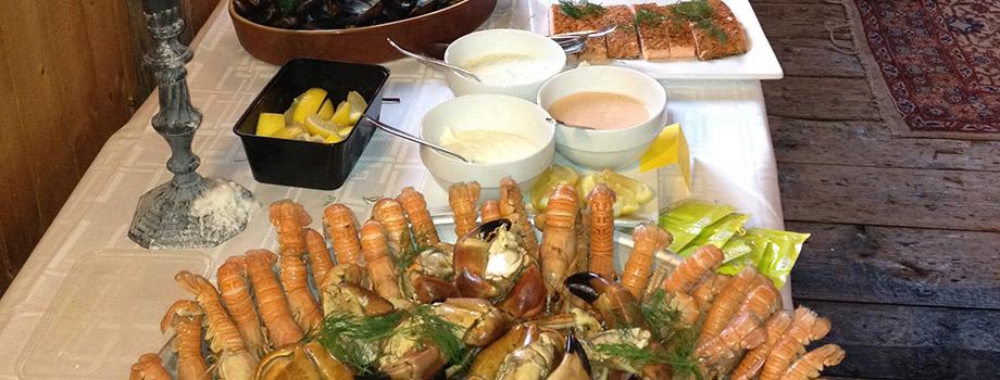 skaldjurs buffe bord