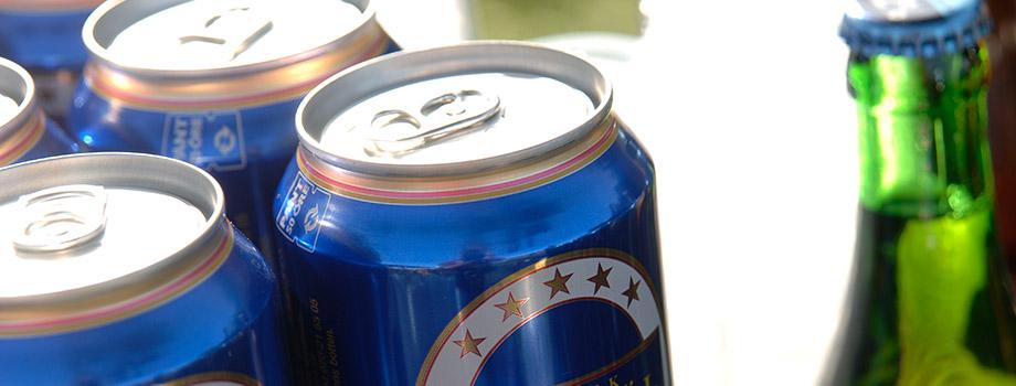 öl burk flaska